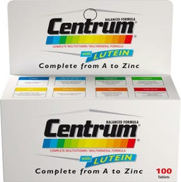 Centrum With Lutein 100 Tab