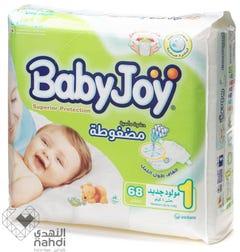 Baby Joy Size (1) Jumbo Pack 68 Diapers