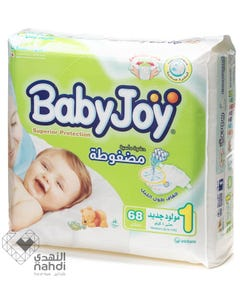 Baby Joy Size (1) Jumbo Pack 68 Diapers
