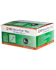 BD Micro-Fine Plus Syringe 1 ml 31G 6 mm 100 Pcs