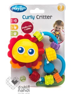 Playgro Curly Critter Sun-lion Shape Rattle 3m+