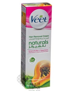 Veet Cream Naturals For Normal And Dry Skin With Papaya Extract 100 ml