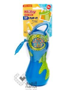 Nuby Flask Flip It Top With Straw 450 ml (Assorted)