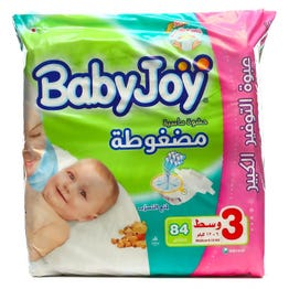 Baby Joy Size (3) Giant Pack 84 Diapers