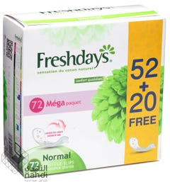 Freshdays Normal 52 pcs and 20 pcs free
