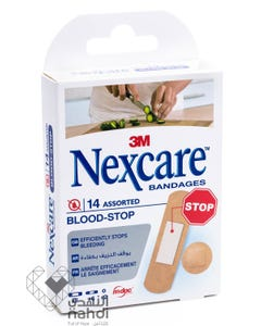 Nexcare Blood Stop Bandages Assorted 14