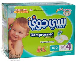 Baby Joy Size (4) Mega Box 120 Diapers