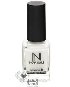 Nova Nails Washable Nail Polish Snow White 10