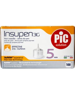 PIC Needles For Insulin Pen Single Use 31G 5 mm