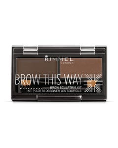 Rimmel Brow This Way Palette Dark Brown