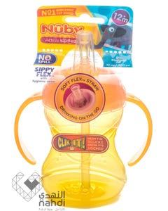 Nuby Sippyflex Clik It Straw Cup With Handle 240/300 ml 12m