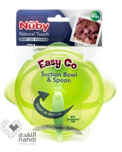 Nuby Nt Easy Go Suction Bowl & Spoon +6 months