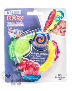 Nuby Nt Wacky Teething Ring With Multiple Teething Surfaces