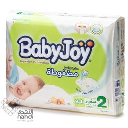 Baby Joy Size (2) Mega Pack 84 Diapers