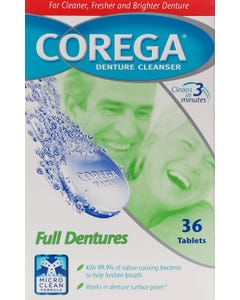 Corega Cleanser Full Dentures 36 Tablets
