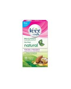 Veet Natural Cws Bikini with Argan Oil 16 pcs