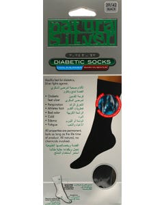 Natura Sliver Diabetic Socks Black 39-42