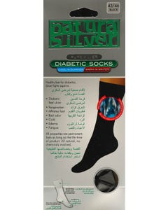 Natura Sliver Diabetic Socks Black 43-46