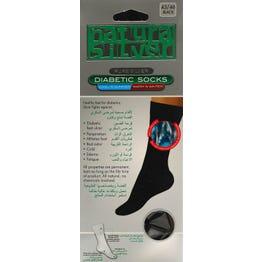 Natura Sliver Diabetic Socks Black 43-46