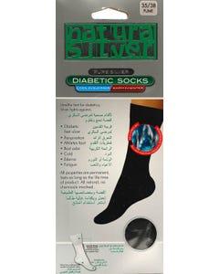 Natura Sliver Diabetic Socks Fume 35-38