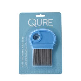 Qure Anti-Lice Comb With Needle Stainless Steel With Lens
