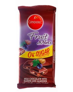 Canderel Chocolate Fruit Nuts 85gm