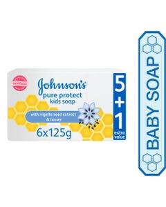 جونسون صابون حماية نقية (عرض 5+1)