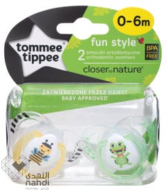 Tommee Tippee Soothers - Fun Style (0-6 M) - 2 pcs