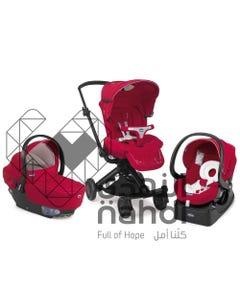 شيكو عربة أطفال آي موف ثلاثية حمراء