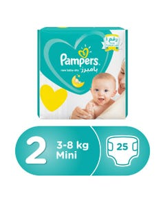 Pampers Size (2) Small3-6 Kg/3-8 Kg Carry Pack 25 Diapers