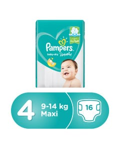 Pampers Size (4) Large 7-14/9-14 Kg Carry Pack 16 Diapers