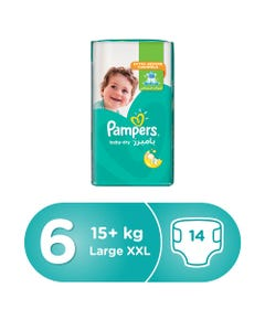 Pampers Size (6) XXL 15+ Kg Carry Pack 14 Diapers