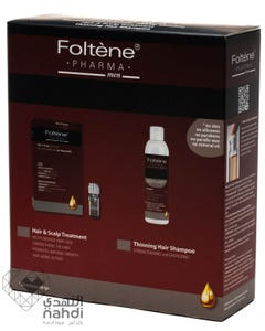 Foltene Hair loss Treatment (Ampoules+Shampoo) Value Pack Men