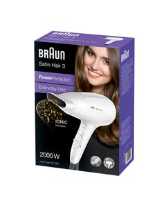 Braun Satin Hair ( 3 ) Iontec Technology Hair Dryer 2000 Watt Hd 380