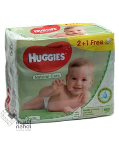 Huggies Baby Wipes Natural Care 56 pcs (Promo 2+1)