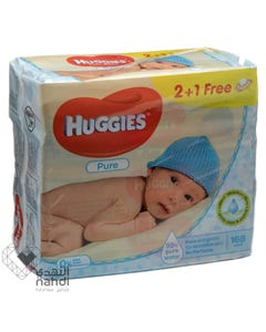 Huggies Baby Wipes Pure 56 pcs (Promo 2+ 1)