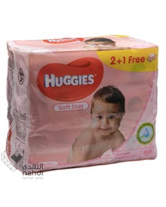 Huggies Baby Wipes Soft Skin 56 pcs (Promo 2+1)