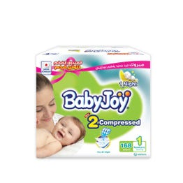 Baby Joy Size (1) Mega Pack 84 Diapers