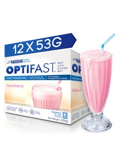 Optifast Shake Strawberry Flavour 12 Pack