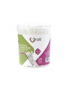 Nahdi Cotton Buds In Round Case 100 pcs