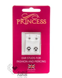 Princess Silver Mini Birthstones (Apr / Crystal)