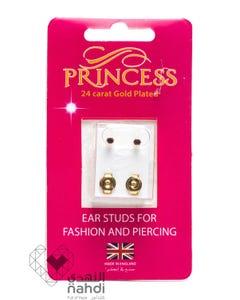 Princess 24 Carat Gold Plated Mini Birthstones (Feb / Amethyst)
