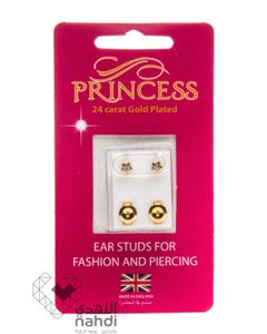 Princess 24 Carat Gold Plated Star Stones (Apr / Crystal)
