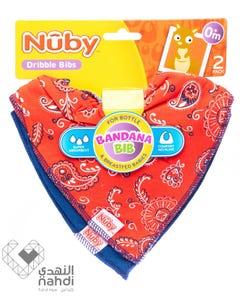 نوبي - مريلة أطفال قماش مثلثة - من سن الولادة (قطعتان)