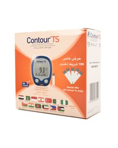 Contour TS Test Strips 2*50 pcs + Contour TS Blood Glucose Monitor