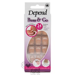 Depend Press&Go Short Model Square Soft Pink