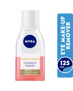 Nivea Double Effect Eye Make-Up Remover Pink 125 ml