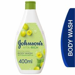 جونسون صابون سائل للاستحمام فيتا ريتش مع زيت بذورالعنب 400 مل