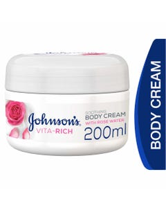 Johnson Vita-Rich Body Cream With Rose Water 200 ml