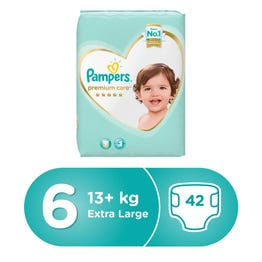 Pampers Premium Care Size (6) XXL 42 Diapers